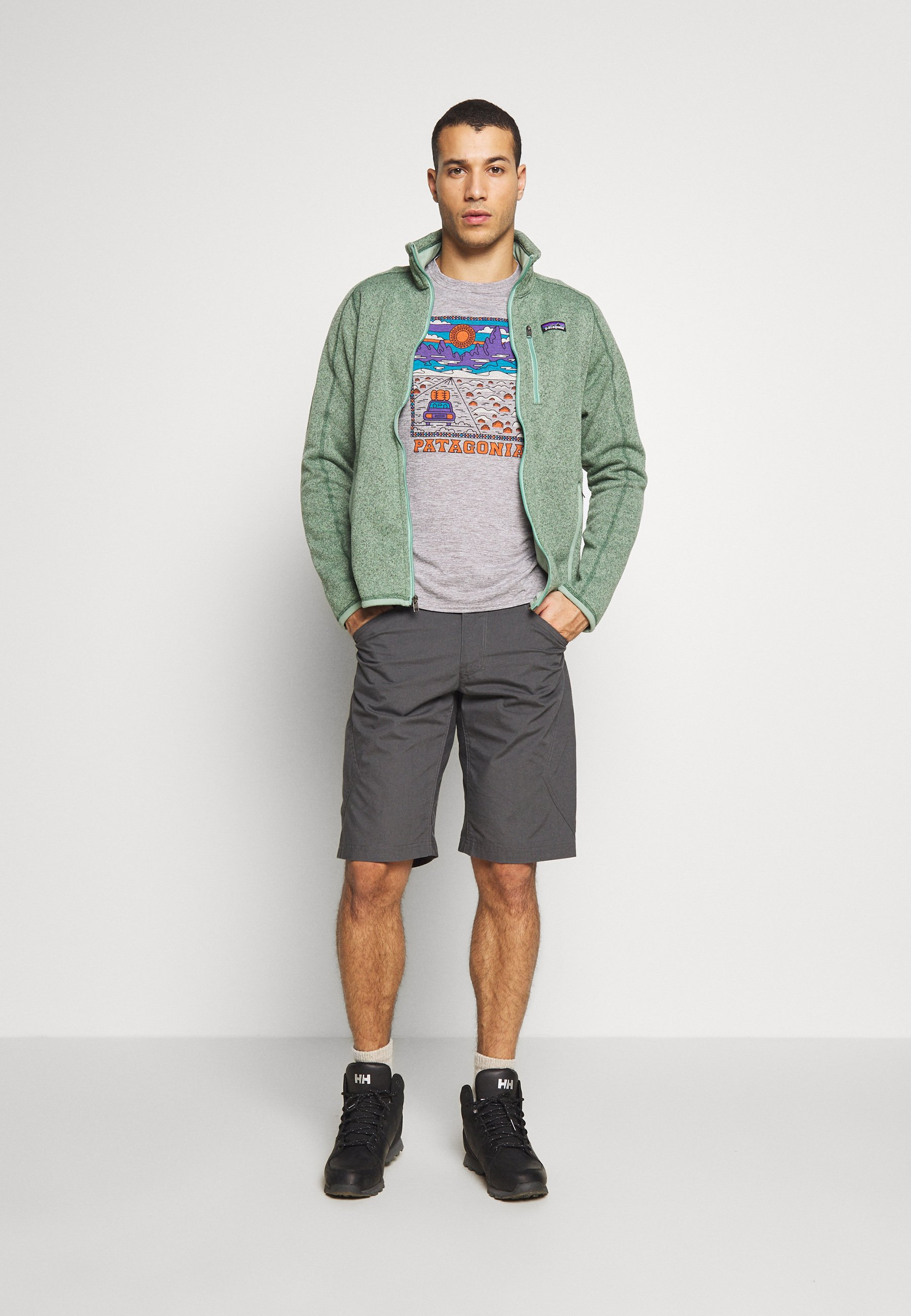 Patagonia CAP COOL DAILY GRAPHIC - T-shirt con stampa - feather grey