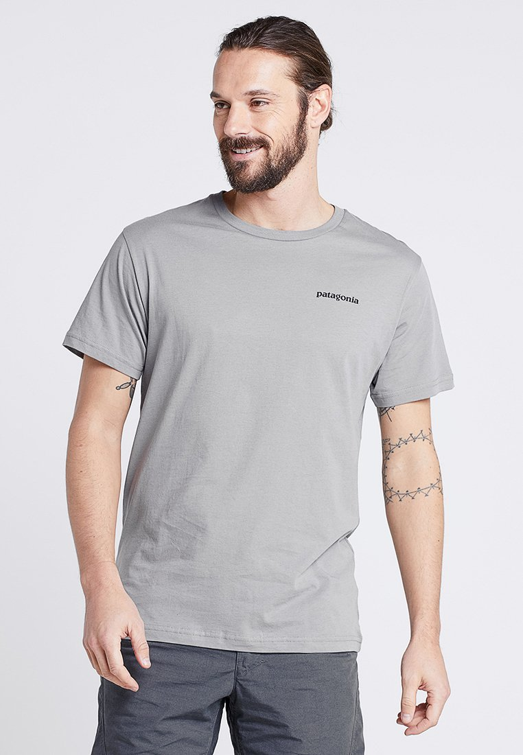 Patagonia - LOGO ORGANIC - Camiseta estampada - feather grey