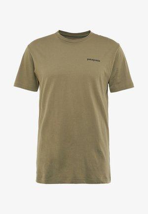 LOGO ORGANIC - T-shirt print - sage khaki