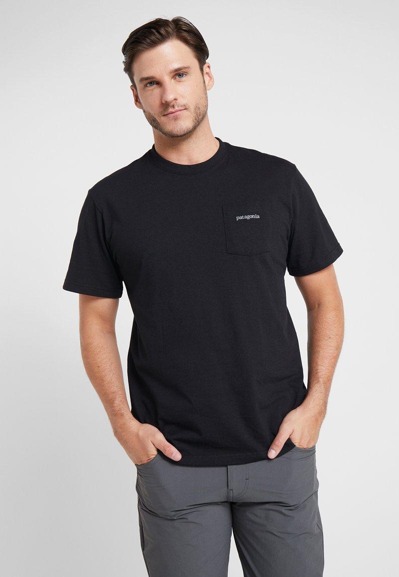 Patagonia - LINE LOGO RIDGE POCKET RESPONSIBILI TEE - T-shirt med print - black