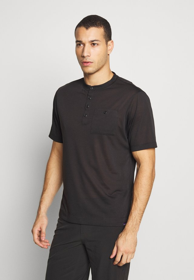 CAP COOL TRAIL BIKE HENLEY - Print T-shirt - black