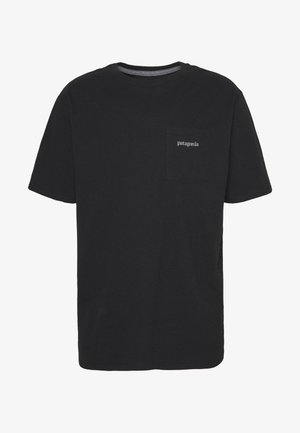 LINE LOGO RIDGE POCKET RESPONSIBILI-TEE - Print T-shirt - black