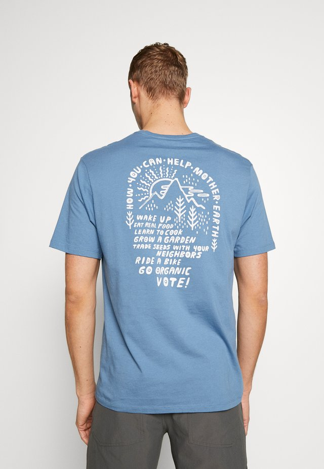 HOW TO HELP - T-shirts print - pigeon blue