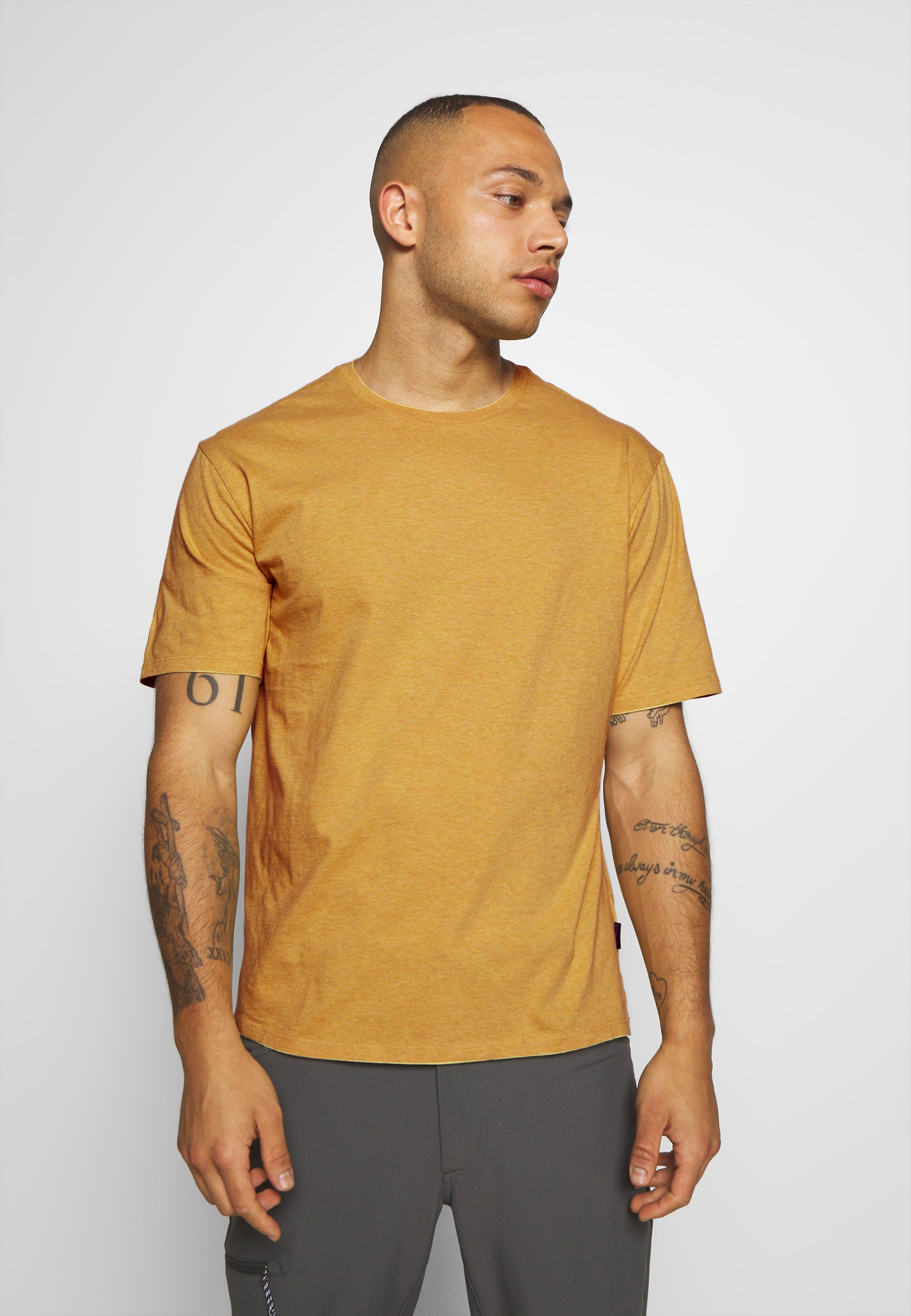 Patagonia ROAD TO REGENERATIVE LIGHTWEIGHT TEE - T-shirt med print - surfboard yellow