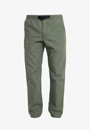 ORGANIC PANTS - Tygbyxor - industrial green