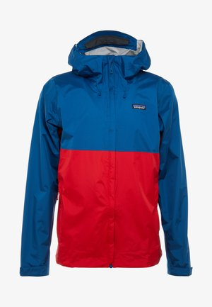 TORRENT - Kurtka hardshell - big sur blue/fire red