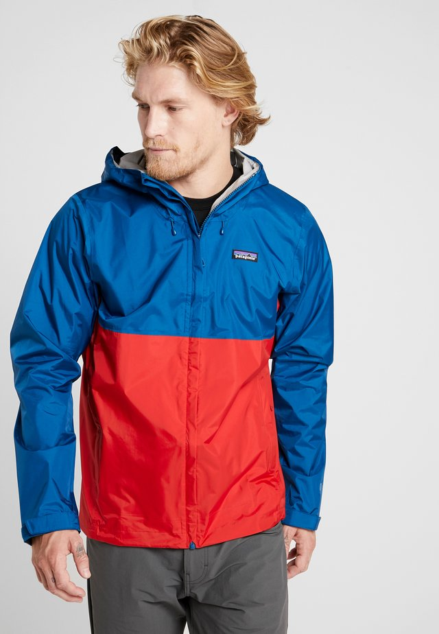 TORRENT - Hardshell jacket - big sur blue/fire red
