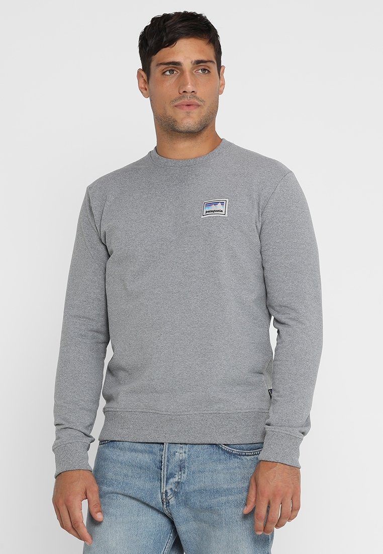 Patagonia - STICKER PATCH UPRISAL CREW - Sweater - gravel heather