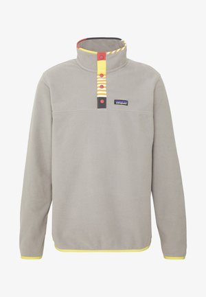 MICRO SNAP - Fleece trui - feather grey