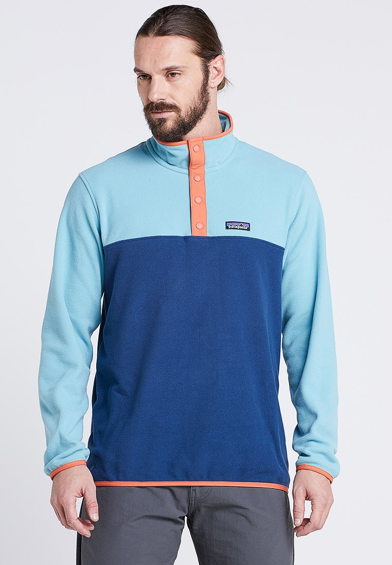 Patagonia - MICRO SNAP - Fleece jumper - stone blue/dam blue