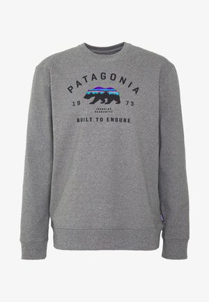 ARCHED FITZ ROY BEAR UPRISAL CREW - Sweatshirts - gravel heather