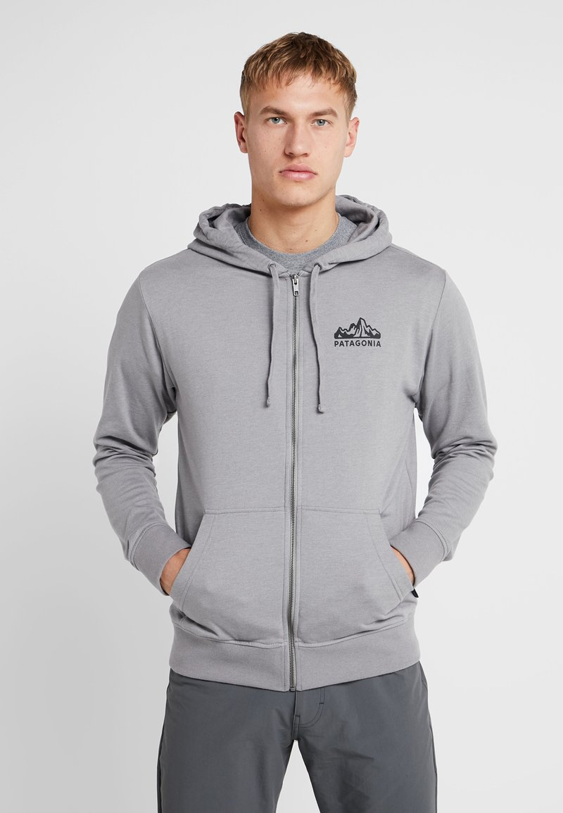 Patagonia - FITZ ROY SCOPE FULL ZIP HOODY - Felpa aperta - feather grey