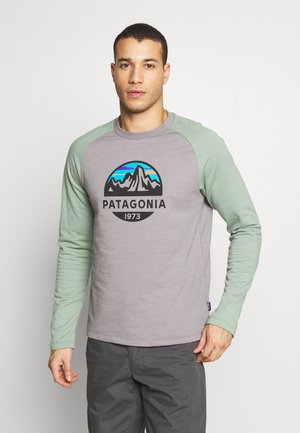 FITZ ROY SCOPE CREW  - Sweatshirt - feather grey w/ellwood green