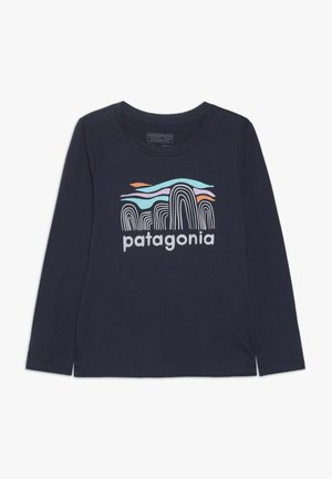 GIRLS GRAPHIC - Maglietta a manica lunga - neo navy
