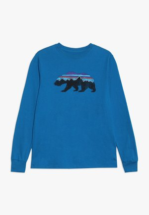 GRAPHIC ORGANIC - Long sleeved top - balkan blue