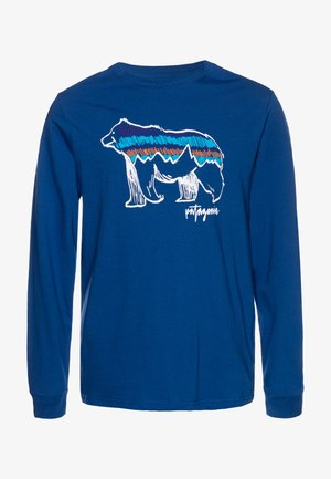 GRAPHIC ORGANIC - Long sleeved top - superior blue