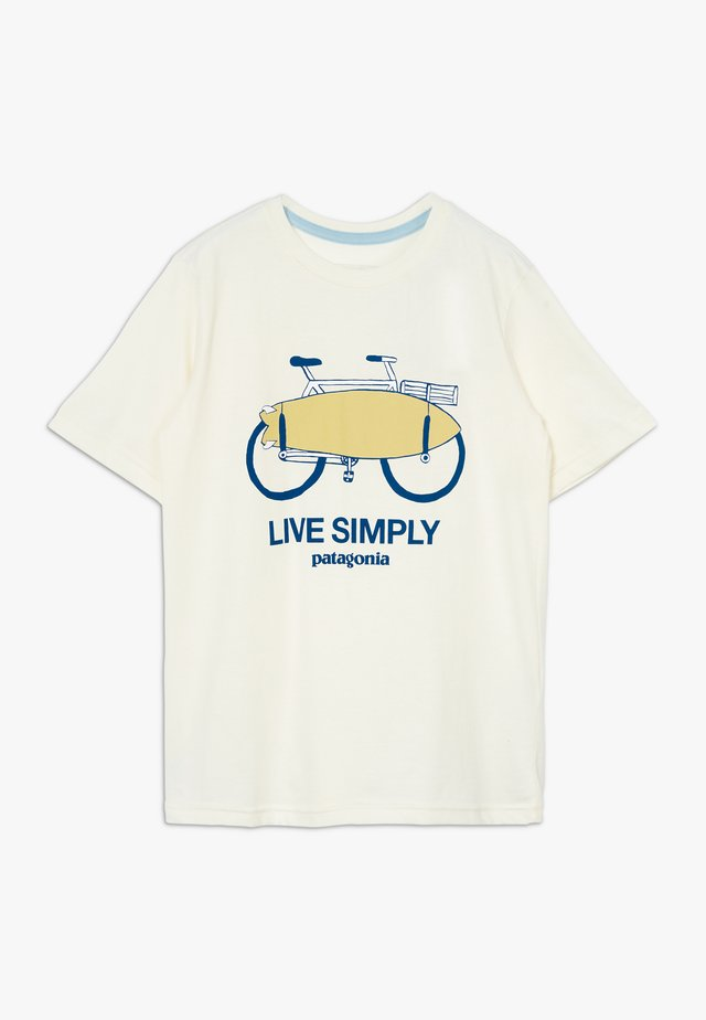BOYS GRAPHIC ORGANIC  - Print T-shirt - off white
