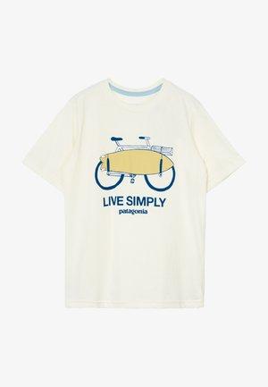 BOYS GRAPHIC ORGANIC  - Print T-shirt - off white