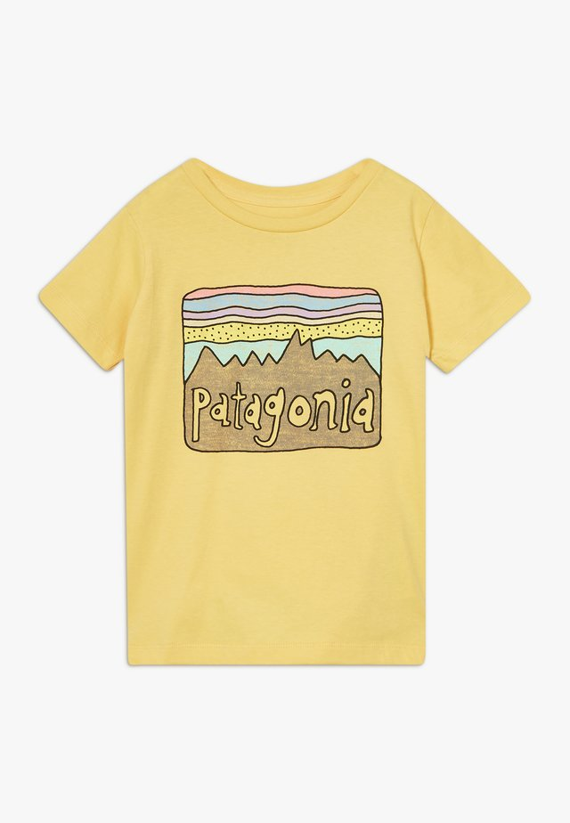 BABY FITZ ROY SKIES ORGANIC - T-shirt print - surfboard yellow