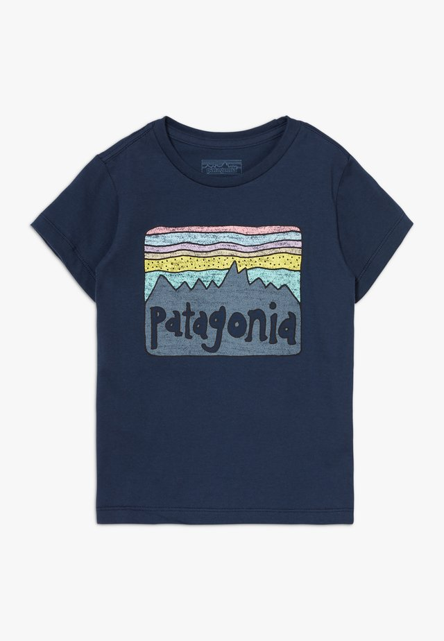 BABY FITZ ROY SKIES ORGANIC - Print T-shirt - new navy