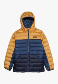Patagonia - BOYS REVERSIBLE HOODY - Down jacket - glyph gold - 0