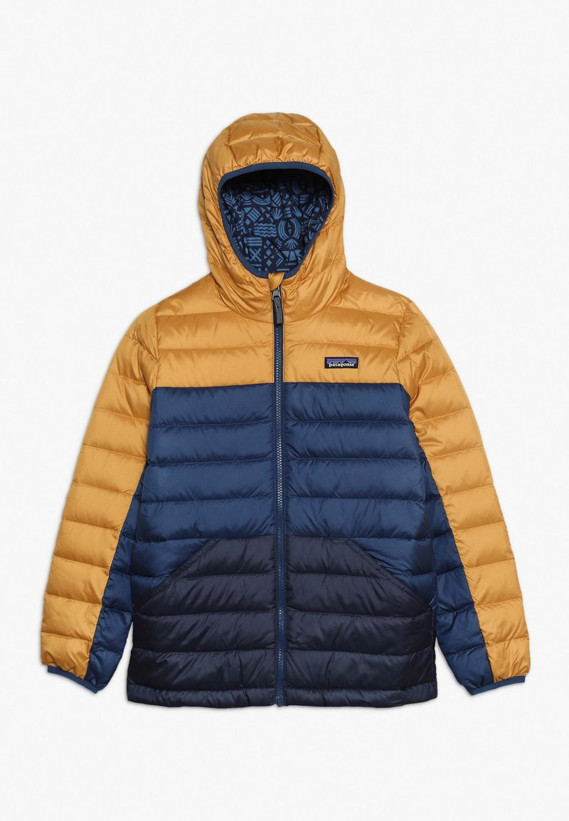 Patagonia - BOYS REVERSIBLE HOODY - Down jacket - glyph gold