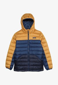 Patagonia - BOYS REVERSIBLE HOODY - Down jacket - glyph gold - 3