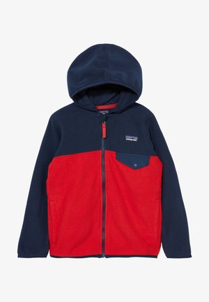 BABY MICRO SNAP - Fleece jacket - fire/new navy