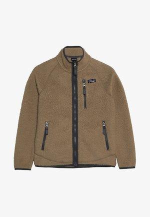 BOYS RETRO PILE - Fleece jacket - mojave khaki