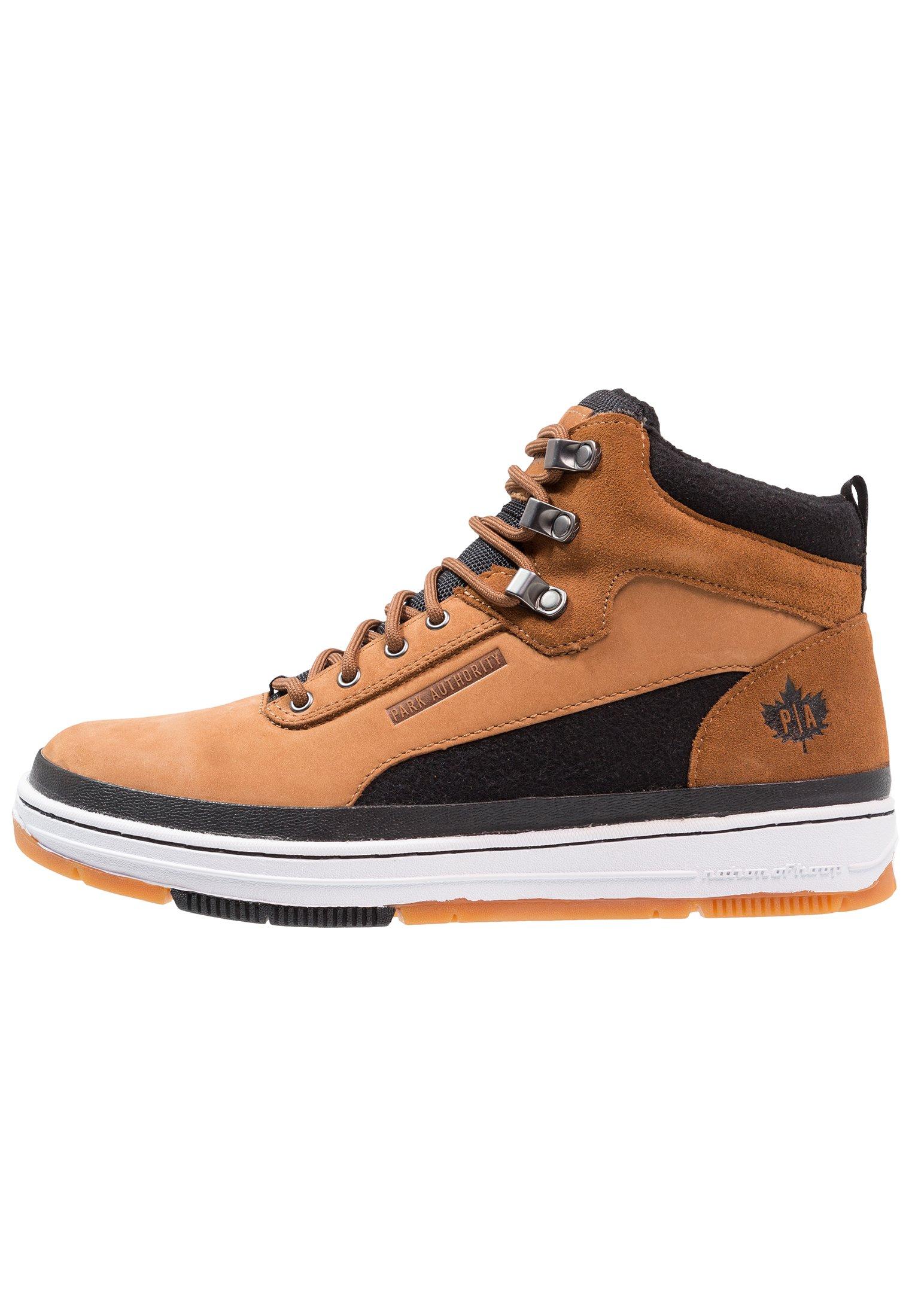 Sneakers hoog dark honey