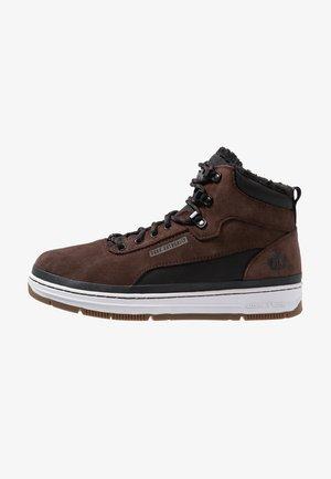 High-top trainers - dark brown/black