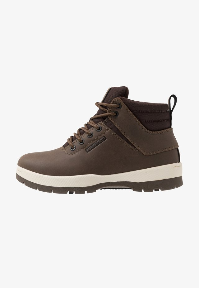 H1KE TERRITORY - Lace-up ankle boots - coffee