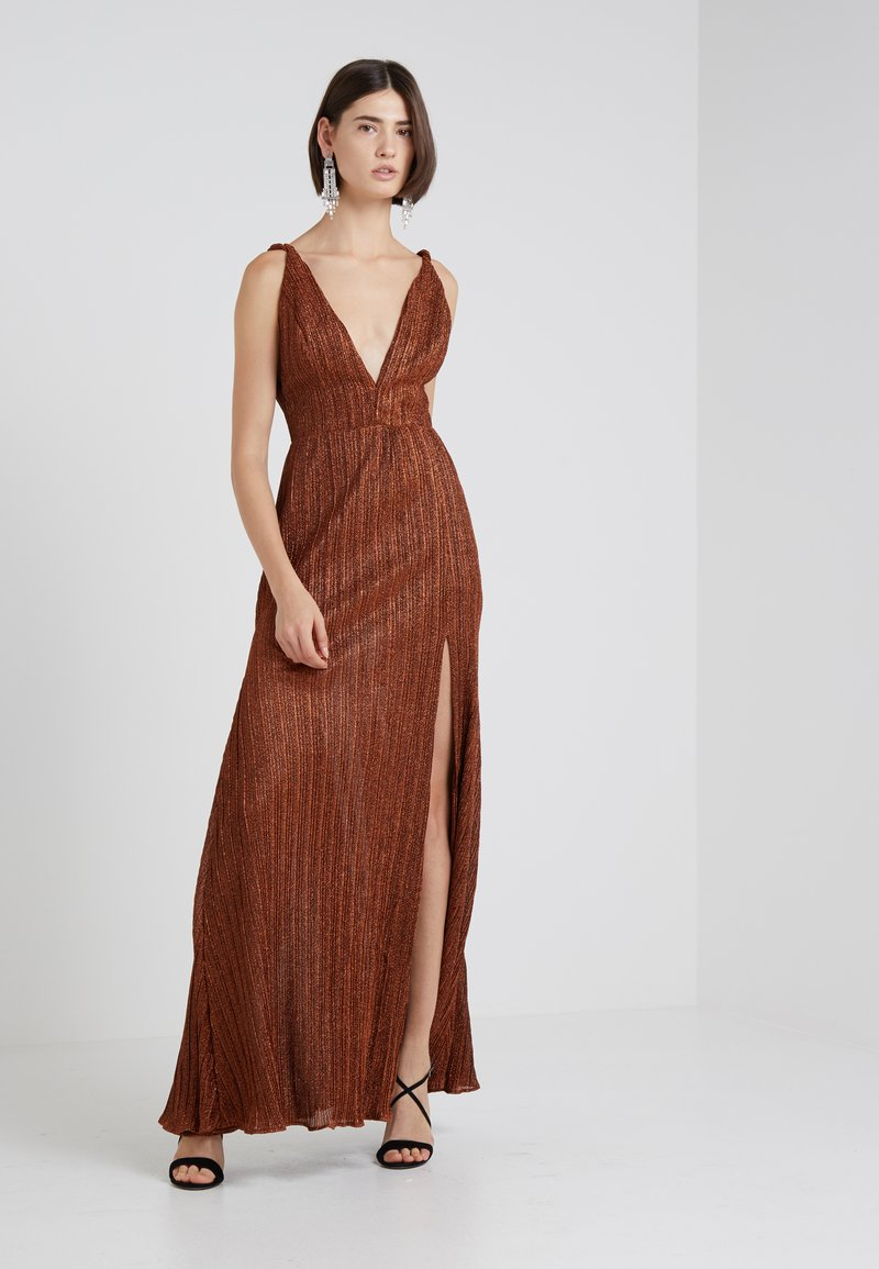 PatBo - PLEATED GOWN - Gallakjole - copper
