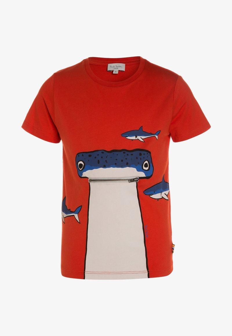 Paul Smith Junior - TARON - Print T-shirt - fiery red