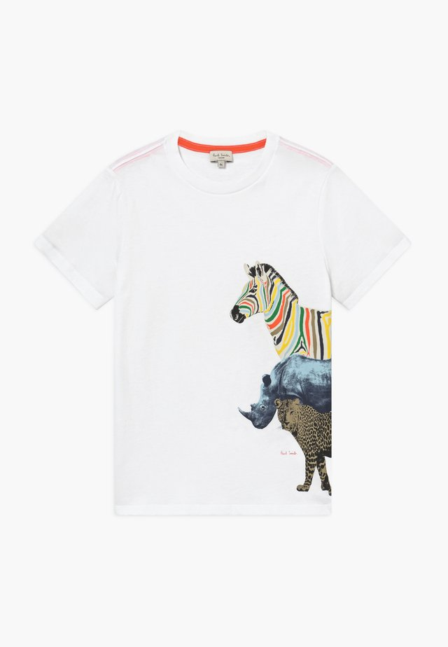 ACOMO - T-shirt z nadrukiem - white