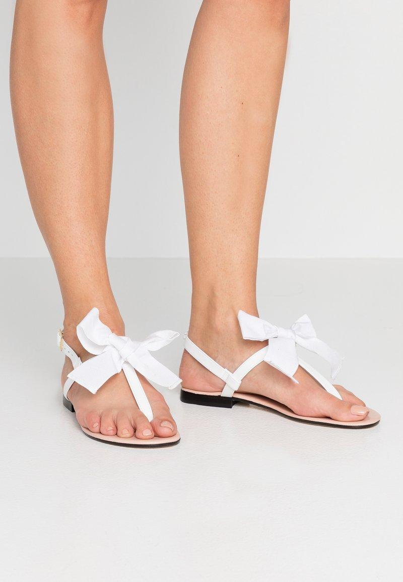 paolifirenze - Sandalias de dedo - bianco