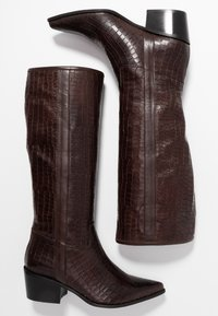 paolifirenze - Cowboy/Biker boots - cocco/testa di moro - 3