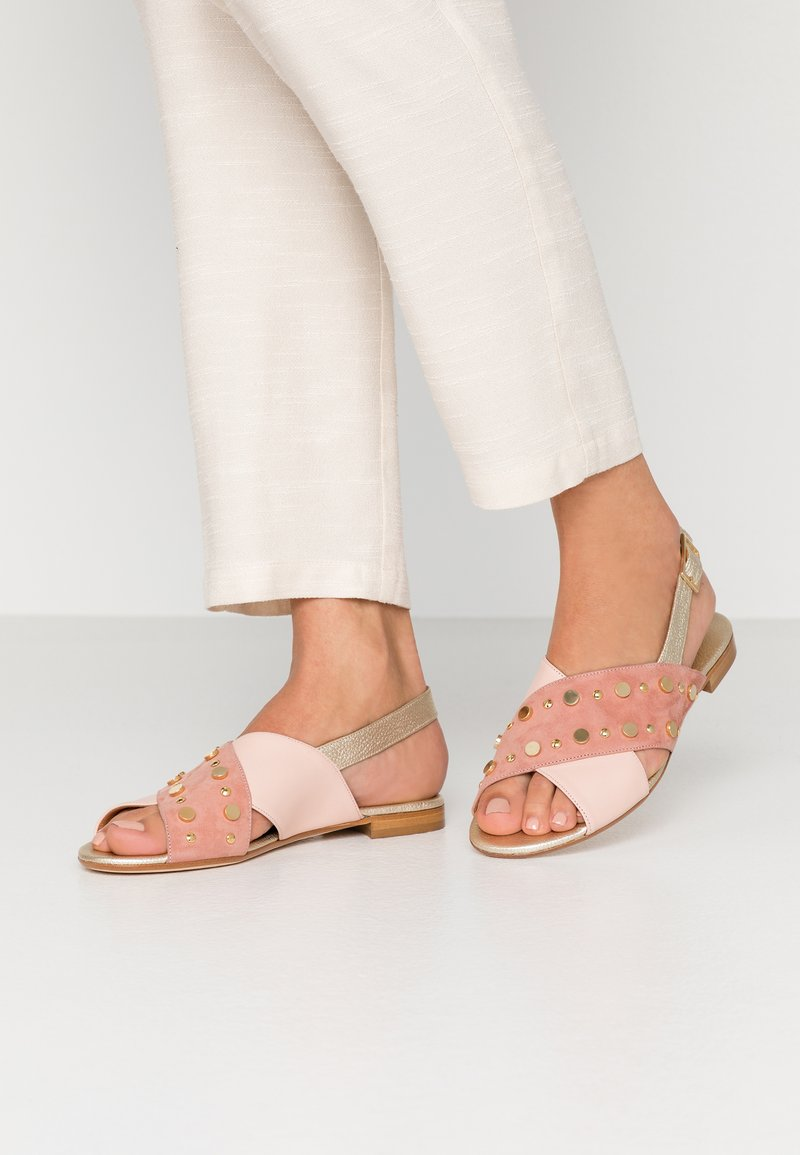 paolifirenze - Sandals - clay/nude/platino