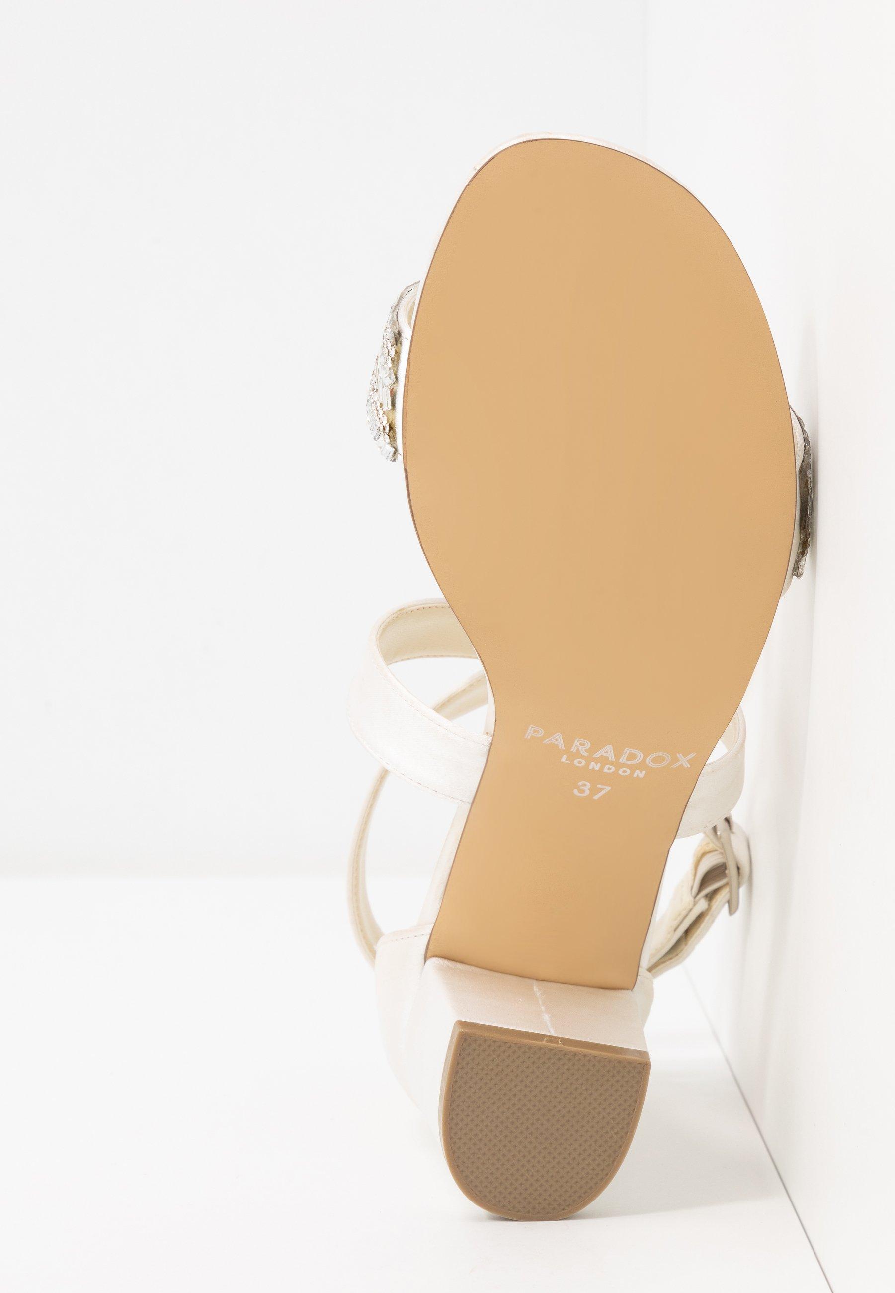 Paradox London Wide Fit WIDE FIT HASINA - Højhælede sandaletter / Højhælede sandaler - ivory