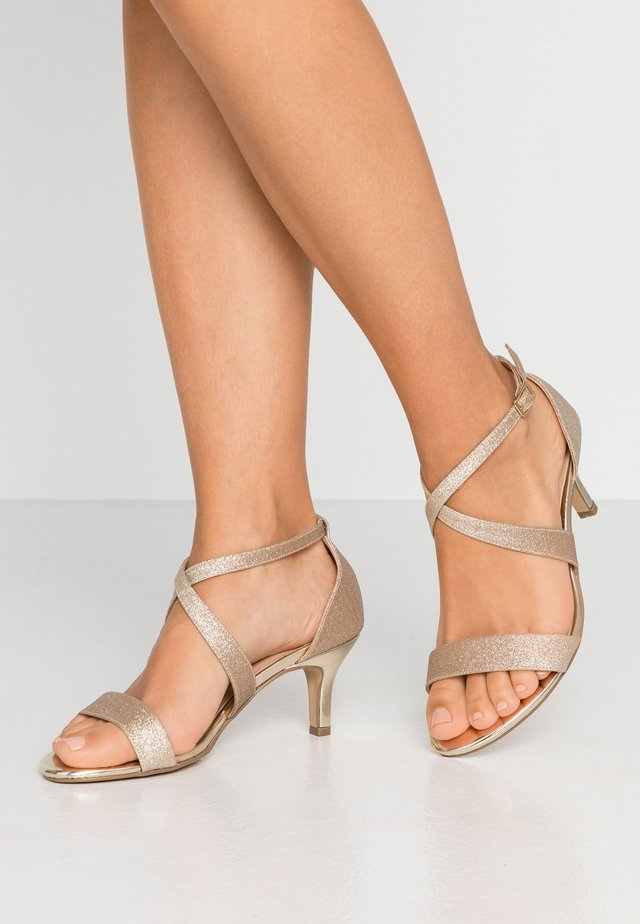 WIDE FIT LAIKA - Sandals - champagne