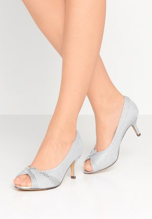 GIGI WIDE FIT - Peep toes - silver