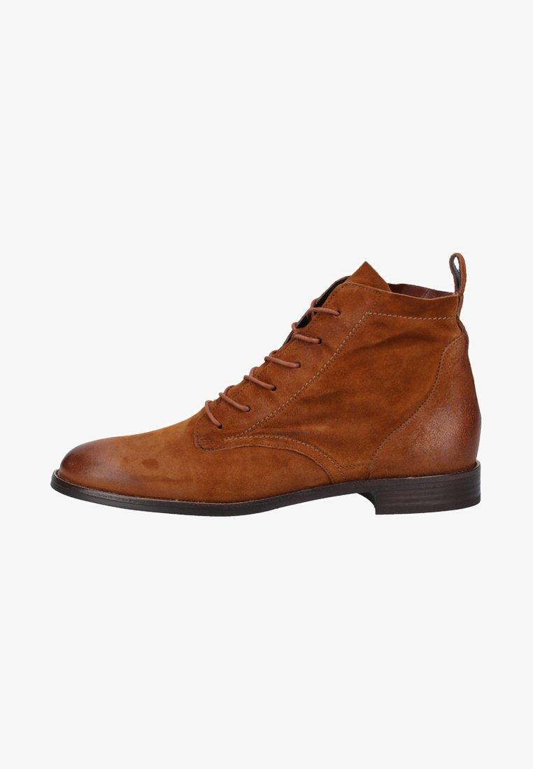Paul Green - Lace-up ankle boots - cognac