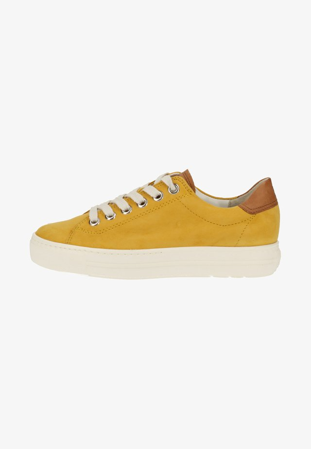 Sneakers basse - mustard yellow/medium brown