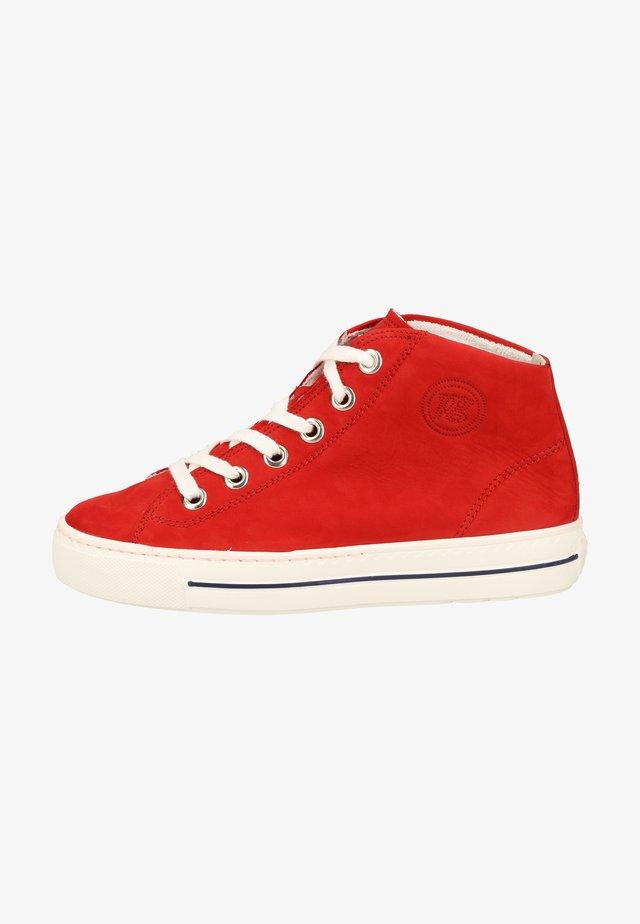 Sneakers hoog - red