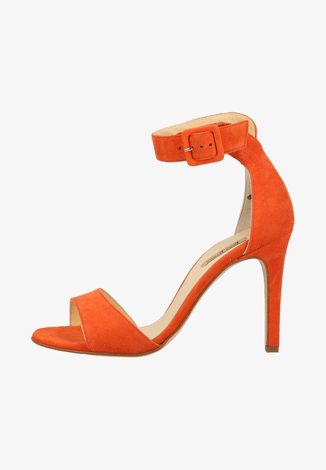 Højhælede sandaletter / Højhælede sandaler - orange