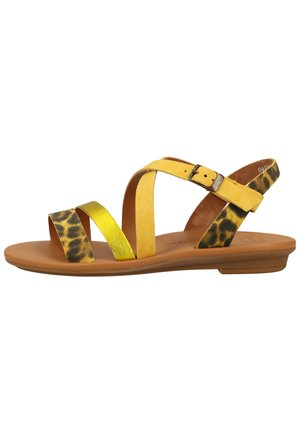 PAUL GREEN SANDALEN - Walking sandals - gelb/leopard-muster 16