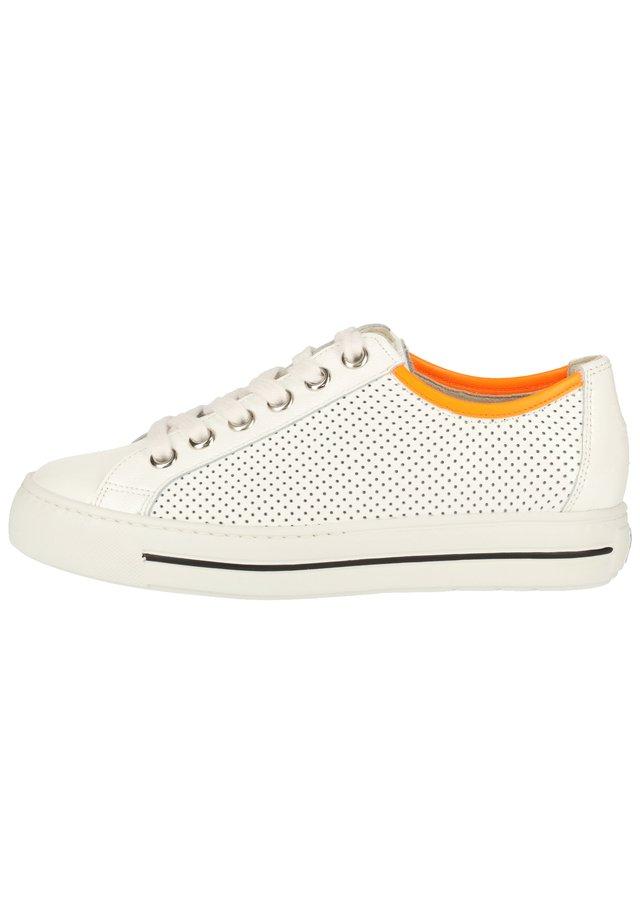 PAUL GREEN SNEAKER - Sneaker low - weiß/orange 26