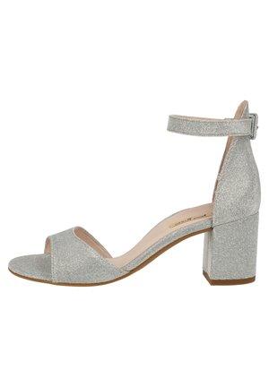 PAUL GREEN SANDALEN - Classic heels - silber metallic