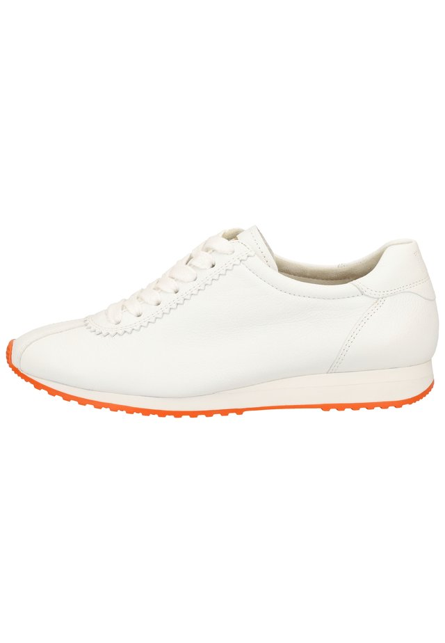 PAUL GREEN SNEAKER - Sneakers basse - weiß/orange 016