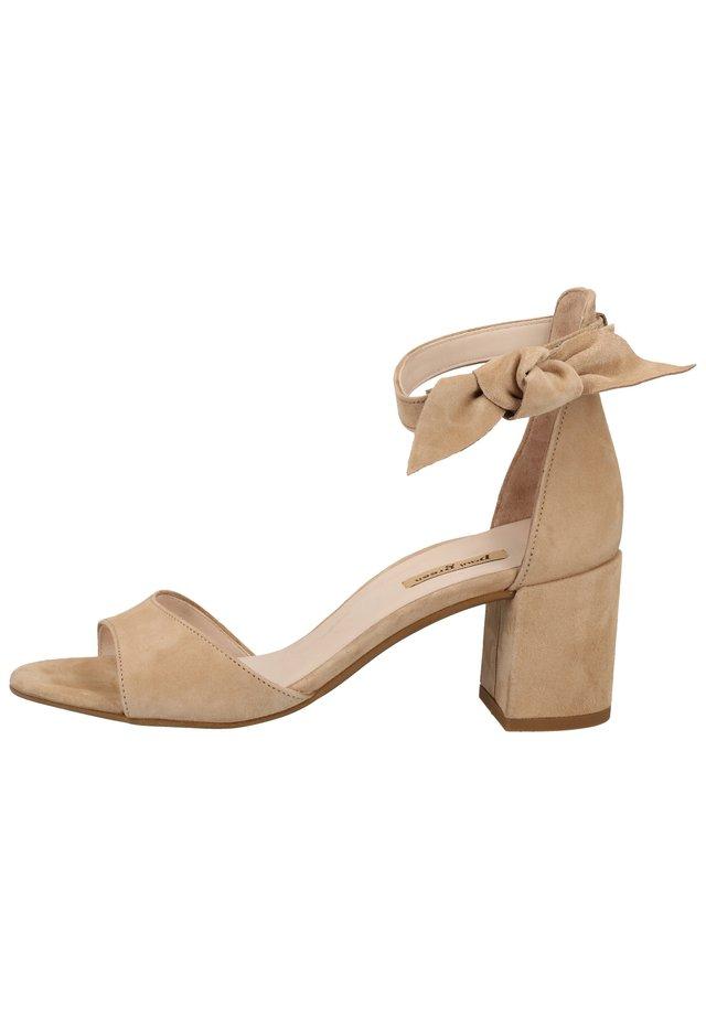 Ankle cuff sandals - hellbraun 016